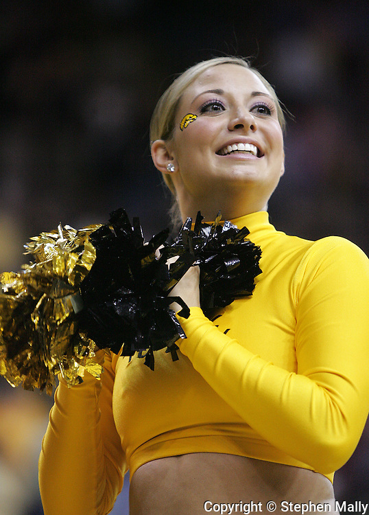 26 NOVEMBER 2007: An Iowa dance team member performs before the start of Wake Forest's 56-47 win over Iowa at Carver-Hawkeye Arena in Iowa City, Iowa on November 26, 2007.