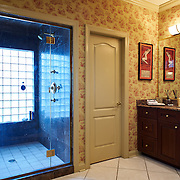 CHERRY HILL, NJ - DECEMBER 23, 2016: The master bath on the second floor has two vanities, two private stalls and a large double headed shower stall. 9 Gwen Court, Cherry Hill, NJ. Credit: Albert Yee for the New York Times