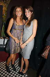 Left to right, MISS ELEANOR CHAPMAN and MISS GENEVIEVE CHAPMAN daughters of the Countess of Woolton at the opening party of the new Frankie's Bar & Grill at Selfridges, Oxford Street, London on 6th September 2006.<br /><br />NON EXCLUSIVE - WORLD RIGHTS