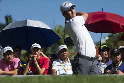 February 3, 2018 - Shah Alam, Kuala Lumpur, Malaysia - Chris Paisley is seen taking a shot from hole no 3 on day 3 at the Maybank Championship 2018...The Maybank Championship 2018 golf event is being hosted on 1st to 4th February at Saujana Golf & Country Club. (Credit Image: © Faris Hadziq/SOPA via ZUMA Wire)