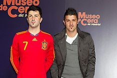 Villa and Iniesta waxworks