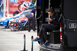 CANYON//SRAM Racing soigneur, Alessandra Borchi at Ladies Tour of Norway 2018 Stage 1, a 127.7 km road race from Rakkestad to Mysen, Norway on August 17, 2018. Photo by Sean Robinson/velofocus.com