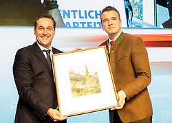 04.03.2017, AUT, FPÖ, 32. Ordentlicher Bundesparteitag, im Bild v.l.n.r. Heinz Christian Strache und Gernot Darmann //  at the 32nd Ordinary Party Convention of the Freiheitliche Partei Oesterreich (FPÖ) in Klagenfurt, Austria on 2017/03/04. EXPA Pictures © 2017, PhotoCredit: EXPA/ Wolgang Jannach