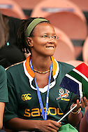 Paris, FRANCE - 9th September 2007, Springbok fan during the Rugby World Cup, pool A, match between South Africa and Samoa held at Parc Des Princes Stadium in Paris, France...Photo by RG/Sportzpics.net