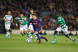 December 5, 2017 - Barcelona, Catalonia, Spain - DENIS SUAREZ of FC Barcelona during the UEFA Champions League, Group D football match between FC Barcelona and Sporting CP on December 5, 2017 at Camp Nou stadium in Barcelona, Spain. (Credit Image: © Manuel Blondeau via ZUMA Wire)