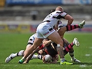 Richard Owen of Wakefield Trinity Wildcats is dumped during the First Utility Super League match at Odsal Stadium, Bradford<br /> Picture by Richard Land/Focus Images Ltd +44 7713 507003<br /> 01/06/2014