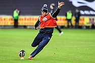 Cardiff Blues' Steve Shingler during the pre match warm up<br /> <br /> Photographer Craig Thomas/Replay Images<br /> <br /> Guinness PRO14 Round 13 - Ospreys v Cardiff Blues - Saturday 6th January 2018 - Liberty Stadium - Swansea<br /> <br /> World Copyright © Replay Images . All rights reserved. info@replayimages.co.uk - http://replayimages.co.uk