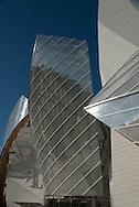 Paris Louis Vuitton Fondation in  Bois de Boulogne , designed by the american architect Frank Gehry/ la fondation Louis Vuitton dans le bois de Boulogne.