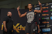 20151006, GRANDWEST, CAPE TOWN, SOUTH AFRICA: Luke Michael - welterweight - during EFC 45 Weigh-in at GrandWest Casino, Cape Town, South Africa. <br /> (Photo by Anton Geyser / EFC Worldwide 2015)