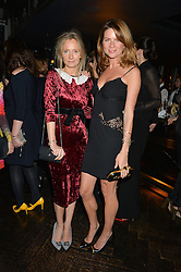 Left to right, MARTHA WARD and GABRIELA PEACOCK at the OMEGA VIP dinner hosted by Cindy Crawford and OMEGA President Mr. Stephen Urquhart held at aqua shard', Level 31, The Shard, 31 St Thomas Street, London, SE1 9RY on 10th December 2014.