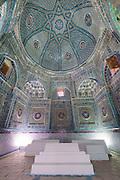 Uzbekistan, Samarqand. Shah-i-Zinda Ensemble. Mausoleum of Shadi Mulk Aga, one of Tamerlane's wives.