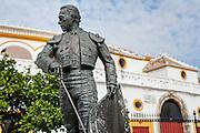 Curro Romero sculpture at Maestranza bullring in Sevilla (Spain)