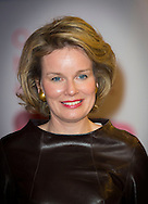 Brussels, 04-03-2015<br /> <br /> <br /> Queen Mathilde attended the Womed Award Ceremony at the Square Brussels Meeting Center<br /> Photo: Bernard Ruebsamen/Royalportraits Europe