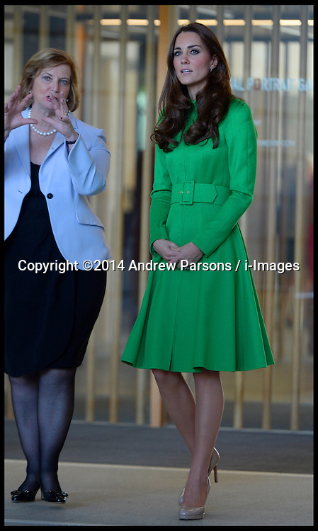 The Duke and Duchess of Cambridge visit the National Portrait Gallery in Canberra, Australia, on day 18 of their Royal Tour of New Zealand and Australia, Thursday, 24th April 2014. Picture by Andrew Parsons / i-Images