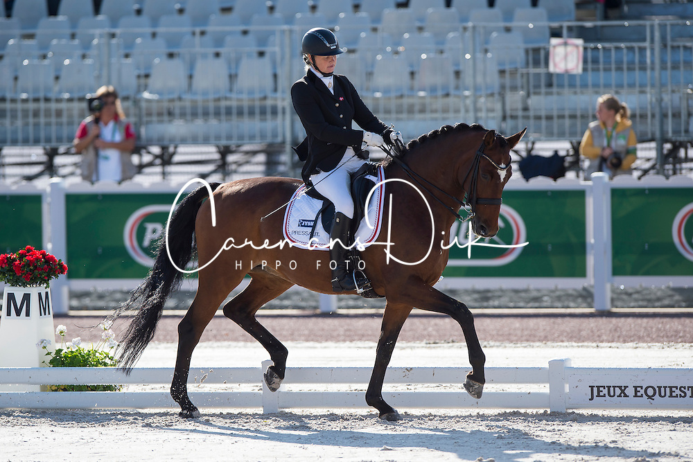 Susanne Jensby Sunesen, (DEN), Thy's Que Faire - Team Competition Grade III Para Dressage - Alltech FEI World Equestrian Games&trade; 2014 - Normandy, France.<br /> &copy; Hippo Foto Team - Jon Stroud <br /> 25/06/14