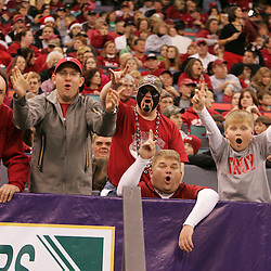 21 December 2008:  Troy fans in the stands during a 30-27 overtime victory by the Southern Mississippi Golden Eagles over the Troy Trojans in the  R+L Carriers New Orleans Bowl at the New Orleans Superdome in New Orleans, LA.