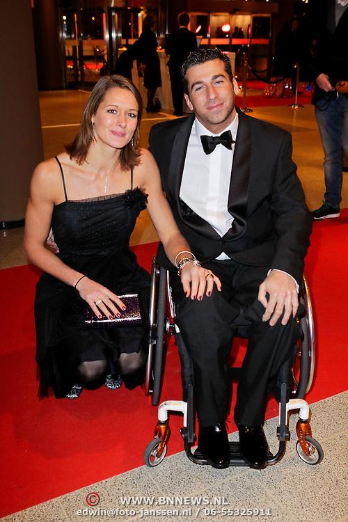 NLD/Den Haag/20111212 - NOC / NSF Sportgala 2011, Marc de Hond en partner Remona Fransen