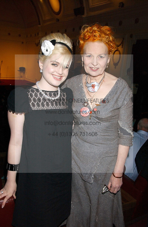 Left to right, KELLY OSBOURNE and VIVIENNE WESTWOOD at the launch of 'Grand Classics:Films with Style' series in London hosted by Vivienne Westwood at The Electric Cinema, Portobello Road, London W11 on 20th March 2006.<br /><br />NON EXCLUSIVE - WORLD RIGHTS