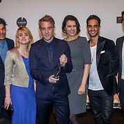 NLD/Amsterdam/20150302 - Uitreiking TV Beelden 2015, Maurice Leede, Sofie van der Enk, Art Rooijakkers, Suzan Visser en Jan Willem Roodbeen