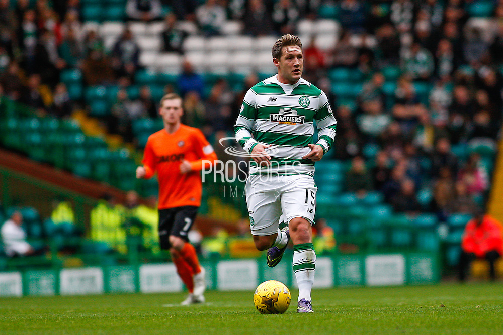 Celtic FC Midfielder Kris Commons looking for the pass during the Ladbrokes Scottish Premiership match between Celtic and Dundee United at Celtic Park, Glasgow, Scotland on 25 October 2015. Photo by Craig McAllister.