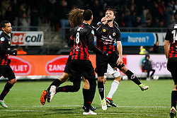 (L-R) Wout Faes of Excelsior, Ryan Koolwijk of Excelsior, Milan Massop of Excelsior during the Dutch Eredivisie match between sbv Excelsior Rotterdam and ADO Den Haag at Van Donge & De Roo stadium on March 16, 2018 in Rotterdam, The Netherlands