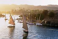 Aswan, Travel along the Nile in Egypt.
