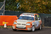 #93 Kay Thompson / John Goff Nissan Micra F1000 Rally / Whitchurchduring Neil Howard Memorial Stage Rally, and opening round of the 2015 Motorsport News Rally Championship.  at Oulton Park, Little Budworth, Cheshire, United Kingdom. November 07 2015. World Copyright Peter Taylor. Copy of publication required for printed pictures.  Every used picture is fee-liable. http://archive.petertaylor-photographic.co.uk