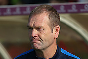 York City Manager Russell Wilcox during the Sky Bet League 2 match between York City and Cambridge United at Bootham Crescent, York, England on 3 October 2015. Photo by Simon Davies.