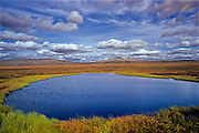 Pond behind the North Fork Pass<br /> Dempster Highway<br /> Yukon<br /> Canada