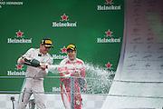 September 4, 2016: Nico Rosberg  (GER), Mercedes , Sebastian Vettel (GER), Ferrari , Italian Grand Prix at Monza