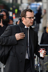 Andy Coulson arriving during the third week of the phone hacking trial at the Old Bailey in London, United Kingdom. Thursday, 14th November 2013. Picture by Ben Stevens / i-Images