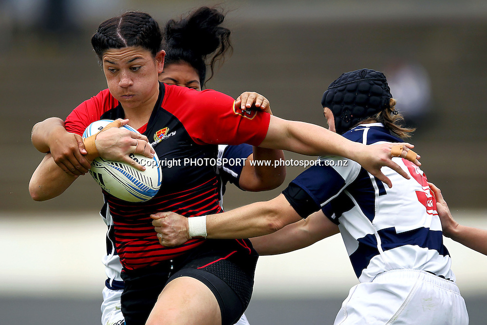 Canterbury's Amiria Rule on the charge. 2013 Women's Provincial Championship, Auckland Storm v Canterbury at Western Springs,  Auckland, New Zealand. Saturday 7th September 2013. Photo: Anthony Au-Yeung / photosport.co.nz