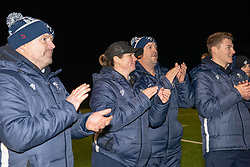 Bristol Bears Women head coach Kim Oliver and her coaching team applaud the players - Mandatory by-line: Paul Knight/JMP - 22/12/2018 - RUGBY - Shaftesbury Park - Bristol, England - Bristol Bears Women v Loughborough Lightning - Tyrrells Premier 15s