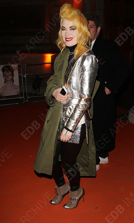 20.MARCH.2013. LONDON<br /> <br /> PAM HOGG ATTENDS DAVID BOWIE IS - PRIVATE VIEW AT THE V&amp;A MUSEUM.<br /> <br /> BYLINE: EDBIMAGEARCHIVE.CO.UK<br /> <br /> *THIS IMAGE IS STRICTLY FOR UK NEWSPAPERS AND MAGAZINES ONLY*<br /> *FOR WORLD WIDE SALES AND WEB USE PLEASE CONTACT EDBIMAGEARCHIVE - 0208 954 5968*