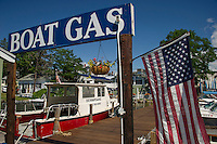 Gas docks are shared with Dive Winnipesaukee in Wolfeboro Bay.  (Karen Bobotas/Photographer)