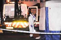 © Licensed to London News Pictures. 05/01/2013. Forensics at the scene on Mayfield Crescent in Thornton Heath, South London, where the body of of mother Janelle Duncan-Bailey was found by detectives investigating her disappearance. The body of of mother Janelle Duncan-Bailey was found in the car. Photo credit : Grant Falvey/LNP
