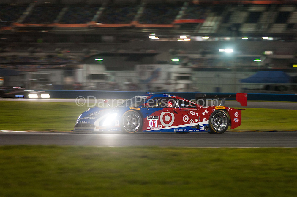#01 Chip Ganassi Racing with Felix Riley DP: Scott Pruett, Joey Hand, Charlie Kimball, Sage Karam