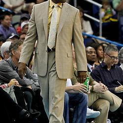 February 6, 2012; New Orleans, LA, USA; Sacramento Kings head coach Keith Smart against the New Orleans Hornets during the second half of a game at the New Orleans Arena. The Kings defeated the Hornets 100-92.  Mandatory Credit: Derick E. Hingle-US PRESSWIRE
