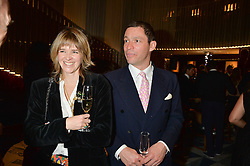 DOMINIC WEST and wis wife CATHERINE at a dinner hosted by AA Gill & Nicola Formby in support of the Borne charity held at Rivea at the Bulgari Hotel, Knightsbridge, London on 3rd February 2015.