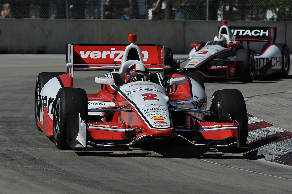 Juan Pablo Montoya, Helio Castroneves, Raceway at Belle Isle Park, Detroit, MI USA 6/1/2014