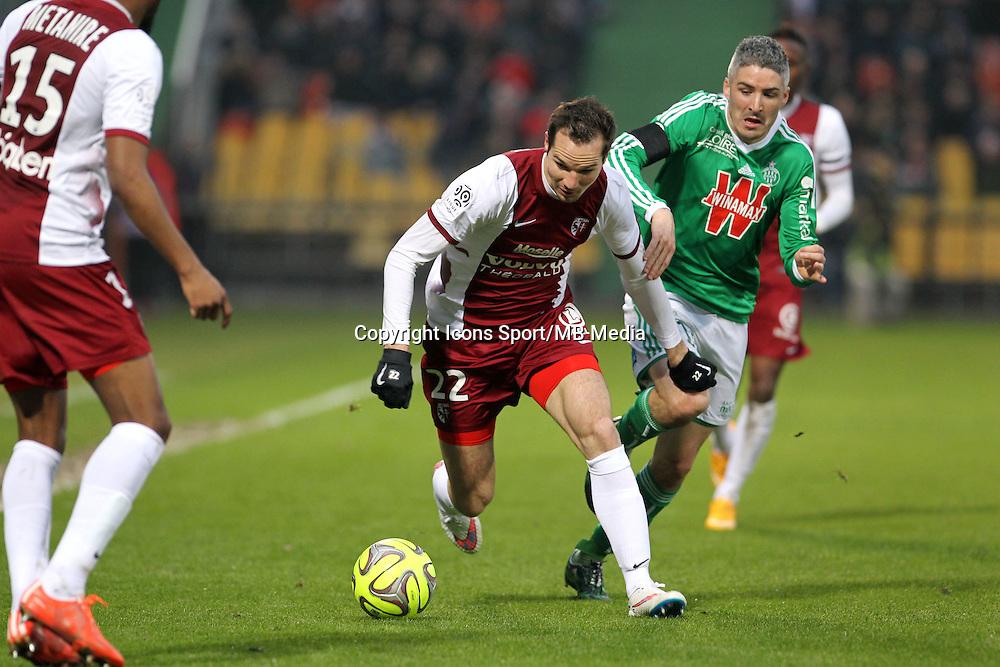 Kevin LEJEUNE / Fabien LEMOINE - 14.03.2015 - Metz / Saint Etienne - 29e journee Ligue 1<br /> Photo : Fred Marvaux / Icon Sport