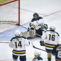 4th year goalie, Jane Kish (31) of the Regina Cougars during the Women's Hockey Home Game on Fri Oct 19 at The Co-operators Arena. Credit: Arthur Ward/Arthur Images