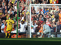 Pepe Reina Scores own goal after Arsenal's Marouane Chamakh Header<br /> Liverpool 2010/11<br /> Liverpool V Arsenal (1-1) 15/08/10<br /> The Premier League<br /> Photo Robin Parker Fotosports InternationalTest