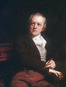 William BLAKE (1757-1827)  English mystic, poet, artist and engraver. 1807 portrait by Thomas Phillips. National Portrait Gallery, London