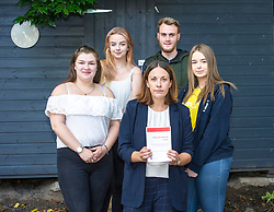 Pictured: Roseanna Campbell (19), Katherine Grindley (16), Kezia Dugdale, Darren Telford (17) and Sarah-Louise Kelegher (16)<br /> <br /> Lothian MSP Kezia Dugdale launched a new report, 'Falling through the cracks', today, when she visited the Edinburgh City Youth Cafe in Edinburgh.  The report examines the life chances of young people in care. She discussed the report with Roseanna Campbell (19), Katherine Grindley (16), Darren Telford (17) and Sarah-Louise Kelegher (16)<br /> <br /> Ger Harley | EEm 30 July 2018