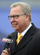 Former Philadelphia Eagles quarterback and current day ESPN football analyst Ron Jaworski does a quarterback comparison before the Baltimore Ravens NFL week 13 regular season football game against the San Diego Chargers on Sunday, Nov. 30, 2014 in Baltimore. The Chargers won the game 34-33. ©Paul Anthony Spinelli