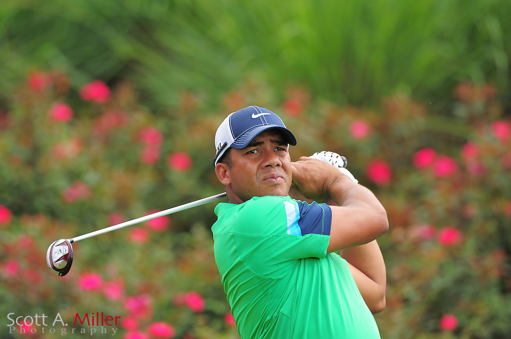 Jhonattan Vegas during a practice round prior to the Players Championship at the TPC Sawgrass on May 9, 2012 in Ponte Vedra, Fla. ..©2012 Scott A. Miller.