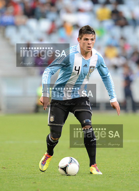 CAPE TOWN, SOUTH AFRICA: Sunday 3 June 2012, ALAN AGUIRRE of Argentina during the final of the under 20 Cape Town International Soccer Challenge between Argentina and Brazil at the Cape Town Stadium..Photo by Roger Sedres/ImageSA