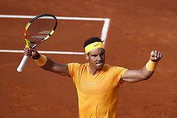 April 27, 2018 - Barcelona, Barcelona, Spain - Rafael Nadal during his quarter of final match between Martin Klizan at Banc Sabadell Barcelona Open Tennis tournament. (Credit Image: © Eric Alonso via ZUMA Wire)