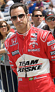 Indy Car driver Helio Castroneves seen in the pits during qualifications for the Indy 500.